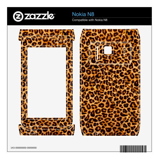 Cheetah Pattern Nokia N8 Decals