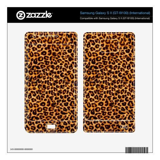 Cheetah Pattern Samsung Galaxy S II Skin
