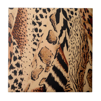 Cheetah Pattern Tile
