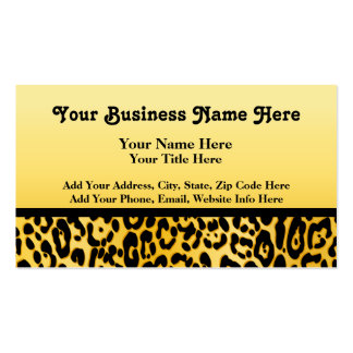 Cheetah Peace Angel business cards