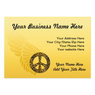 Cheetah Peace Angel Chubby cards Large Business Cards (Pack Of 100)