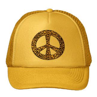 Cheetah Peace Angel Trucker Hat
