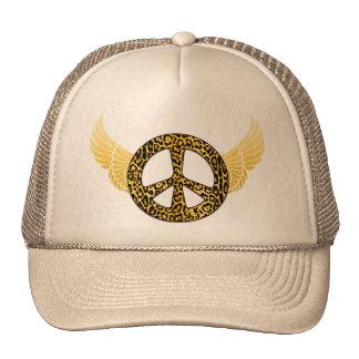 Cheetah Peace Angel Hat