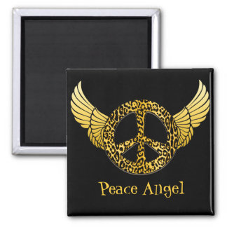 Cheetah Peace Angel magnet