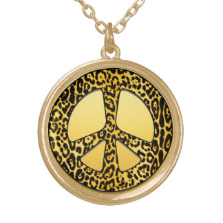 Cheetah Peace Angel Necklace