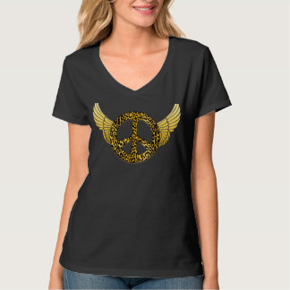 Cheetah Peace Angel T-Shirt