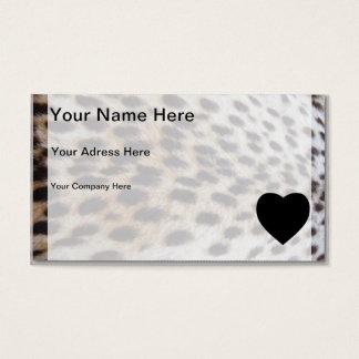 Cheetah Pelt Business Card
