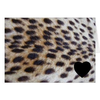 Cheetah Pelt Greeting Card