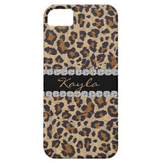 CHEETAH PERSONLIZED BLING  I phone 5 CASE iPhone 5 Covers
