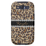 CHEETAH PERSONLIZED BLING SAMSUNG 3 COVER GALAXY SIII CASE
