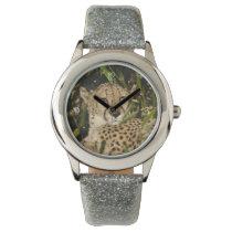 Cheetah photograph wrist watch