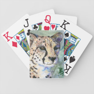 Cheetah Portrait aceo Bicycle Playing Cards