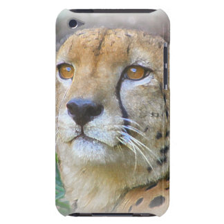 Cheetah portrait barely there iPod cases