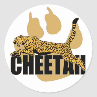 Cheetah Power Classic Round Sticker