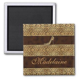 Cheetah Print and Stiletto Custom Refrigerator Magnets