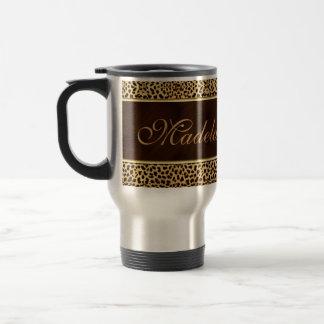 Cheetah Print and Stiletto Custom 15 Oz Stainless Steel Travel Mug