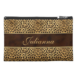 Cheetah Print and Stiletto Custom Travel Bag Travel Accessory Bag