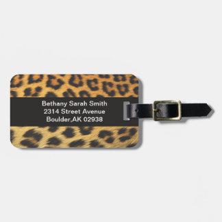 Cheetah Print Bag Tags