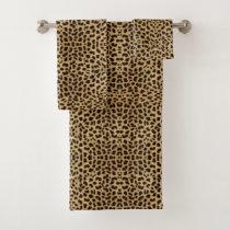Cheetah Print Bath Towel Set