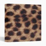 Cheetah Print Binders