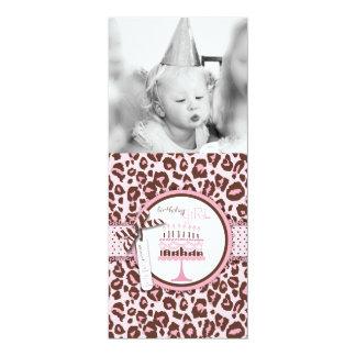 Cheetah Print & Birthday Cake Photo Template Announcement