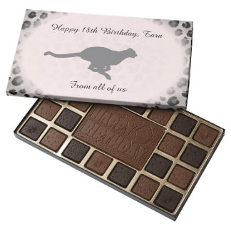 Cheetah Print Birthday Chocolate Assortment