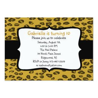 Cheetah Print Birthday  Invitation