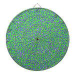 Cheetah print blue on green dart board
