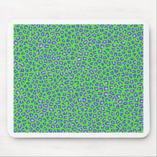 Cheetah print blue on green mouse pads