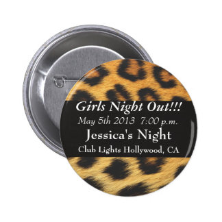 Cheetah Print Pinback Buttons