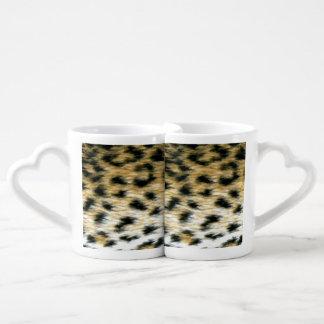 Cheetah Print Coffee Mug Set