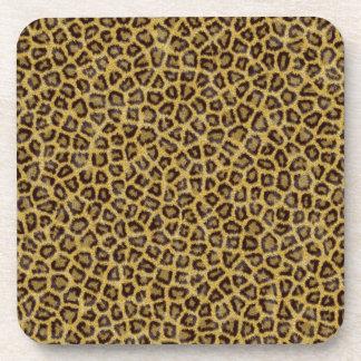 Cheetah Print Beverage Coasters