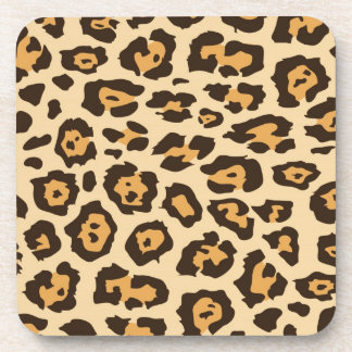 Cheetah Print Beverage Coaster