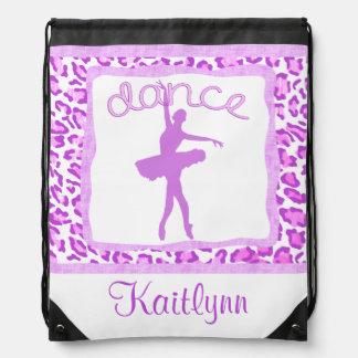 Cheetah Print Dance in Purple Backpack