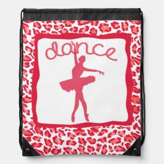 Cheetah Print Dance in Red Backpack
