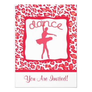 Cheetah Print Dance in Red Invitations