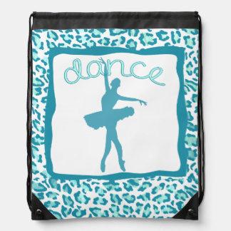 Cheetah Print Dance in Turquoise Backpack
