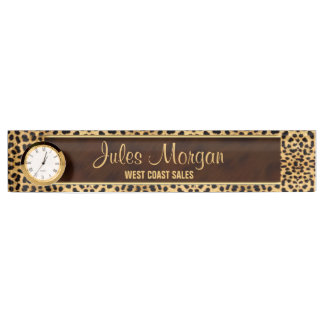 Cheetah Print for the Businesswoman Name Plate