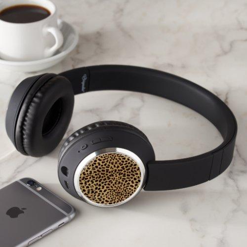 Cheetah Print Headphones