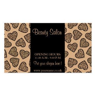 Cheetah print hearts Business Card