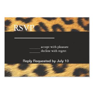 Cheetah Print Personalized Invitation