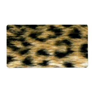 Cheetah Print Label