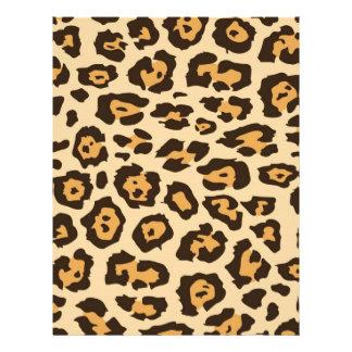 Cheetah Print Letterhead