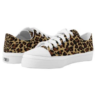 Cheetah Print Low Top Sneakers