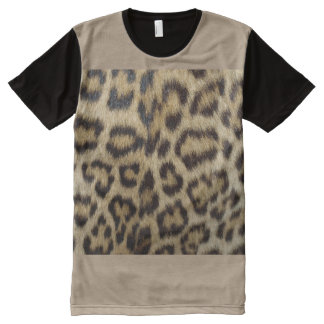 Cheetah Print Men's American Apparel All-Over Prin All-Over-Print Shirt