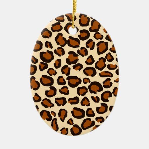 Cheetah print - Oval Ornament