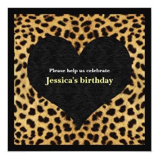 Cheetah Print Party Invitation