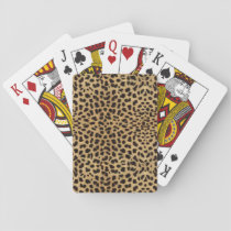 Cheetah Print Playing Cards