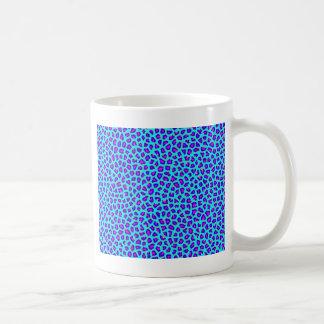 Cheetah Print Purple on Blue Coffee Mug