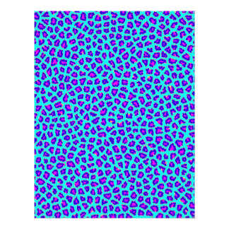 Cheetah Print Purple on Blue Customized Letterhead